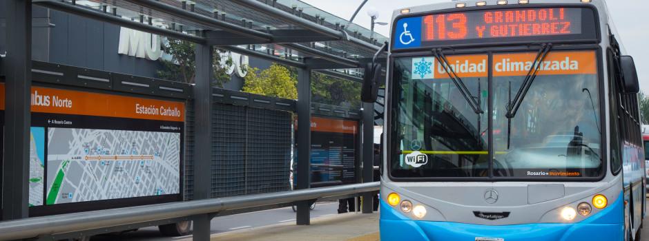 Rosario, el primer Metrobus en el interior del país