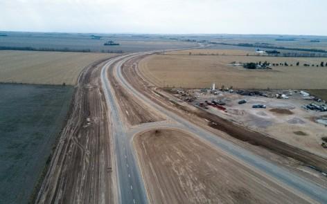 Autopista en la RN 36 en la provincia de Córdoba