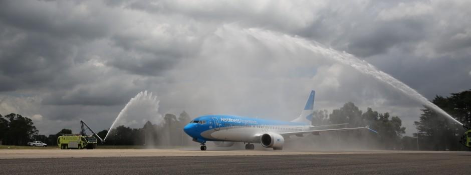 Aerolíneas Argentinas tiene un nuevo avión: el más moderno de los Boeing